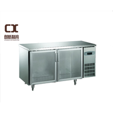 professional freezing equipment stainless steel refrigerator with swing door