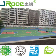 Silicon pu basketball court cover outdoor sport flooring