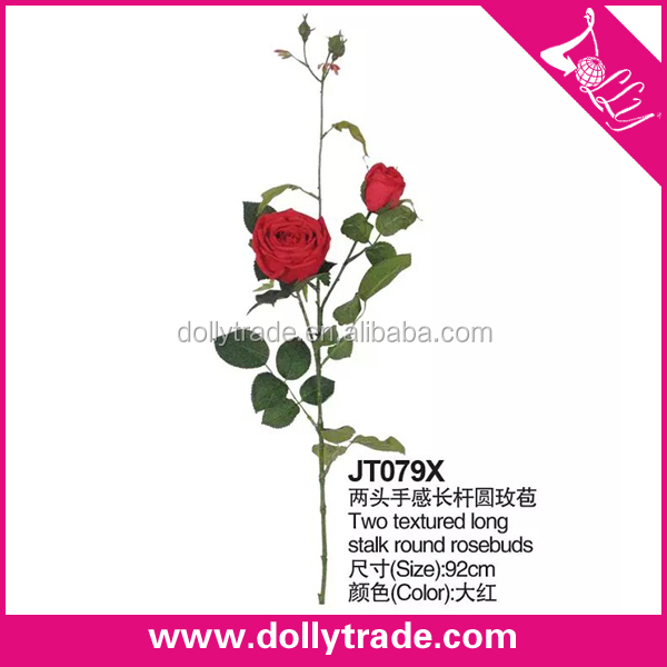 real touch long stem artificial silk red roses flowers wholesale
