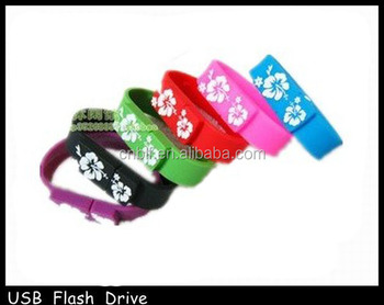 best selling BLF Silicone bracelet usb flash drive from factory