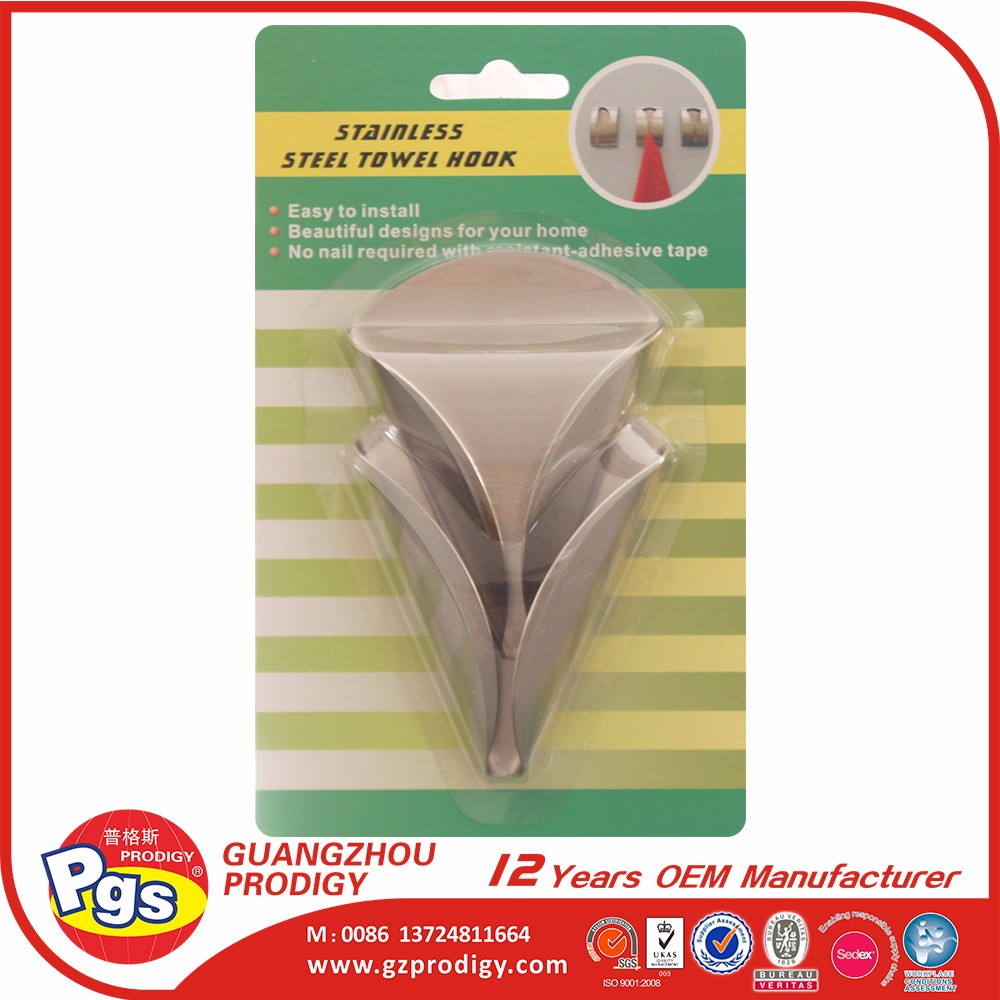 Ornament stainless steel metal hook towel clip