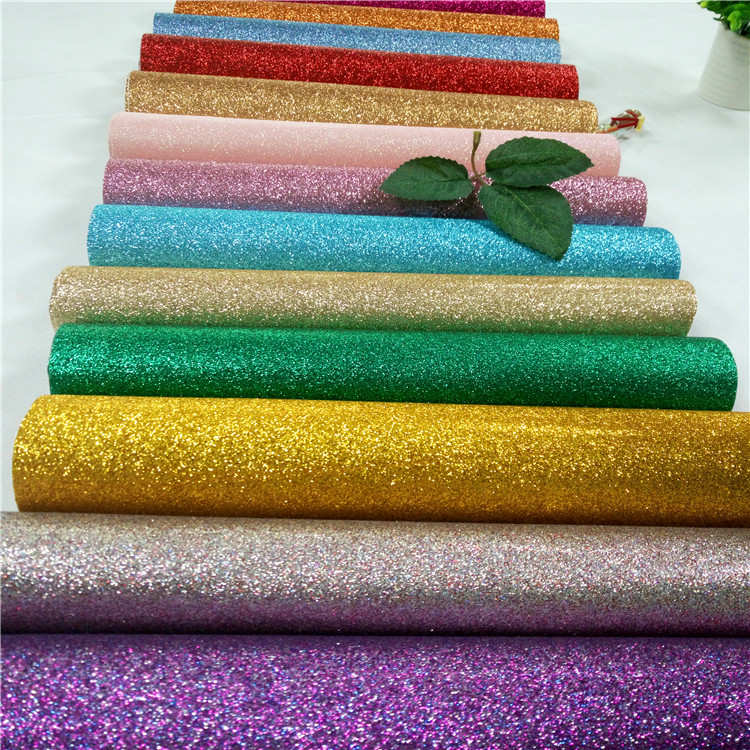 glitter pu synthetic leather
