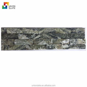 Green ice multicolor quartzite stone veneer slate stone