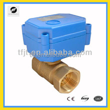 2-way DC9-24V DN15 Brass motor on-off valve with CR01 -2wires reverse polarity operation