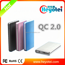 New Technology QC2.0 Power Banks 9V 2A/5V 2A Output Portable Fast Charging Qualcomm QC 2.0 Power Bank