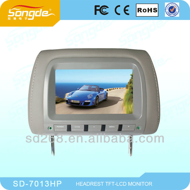 Android 9 inch headrest screen rear seat car dvd player with usb sd fm
