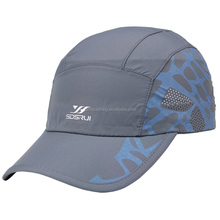 White printed logo summer swim sun beach hats light quick-dry fabric sports cap for running
