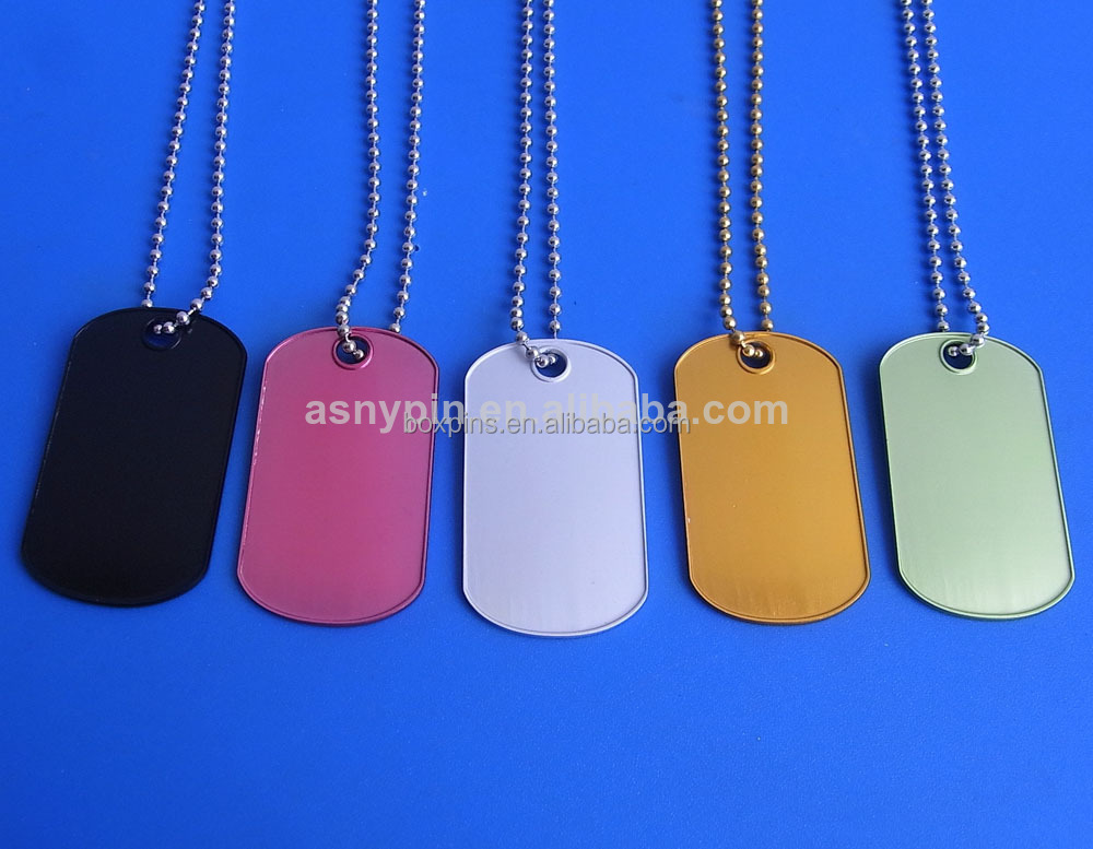 Wholesale anodized aluminum necklace anodized aluminum ball chain