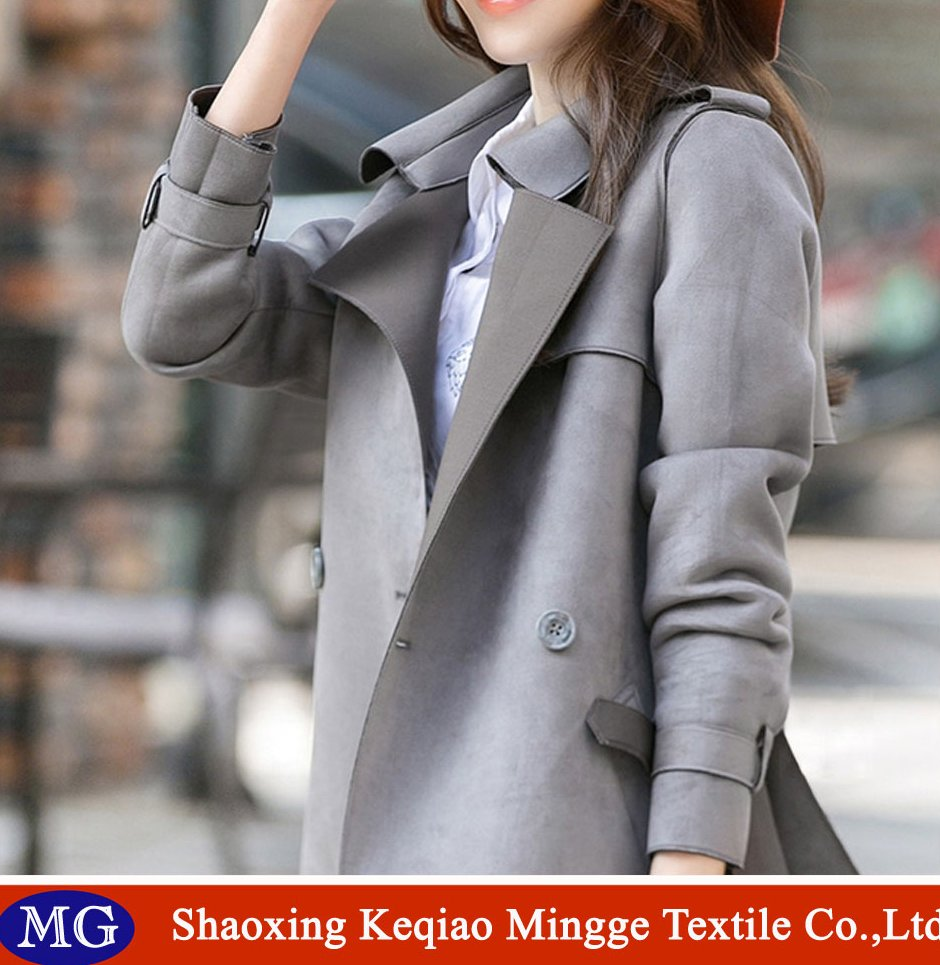China factory weft knitting suede fabric for overcoat