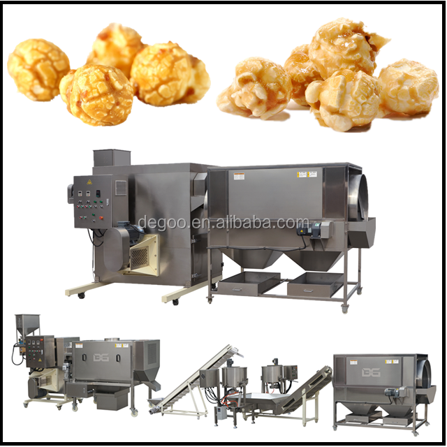 Automatic commercial hot air popcorn popper maker machine from Jinan DG