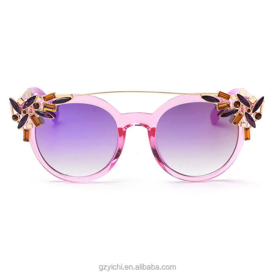 Beautiful Flower Design Women Fashion Sunglasses Brand Custom Flower Shades Eyewear Sunglasses Women