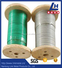 4mm PVC coated stainless steel wire rope, galvanized wire rope price