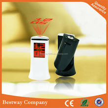 Led Multifunctional Rotatable Display Date Time Temperature Alarm Digital Projection Clock with 12h/24h Display Format