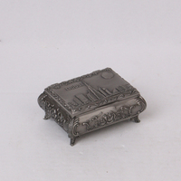 antique metal gift box for jewelry