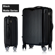 "Custom ABS 20"" 24 inches trolley case huge capacity travel luggage bag"