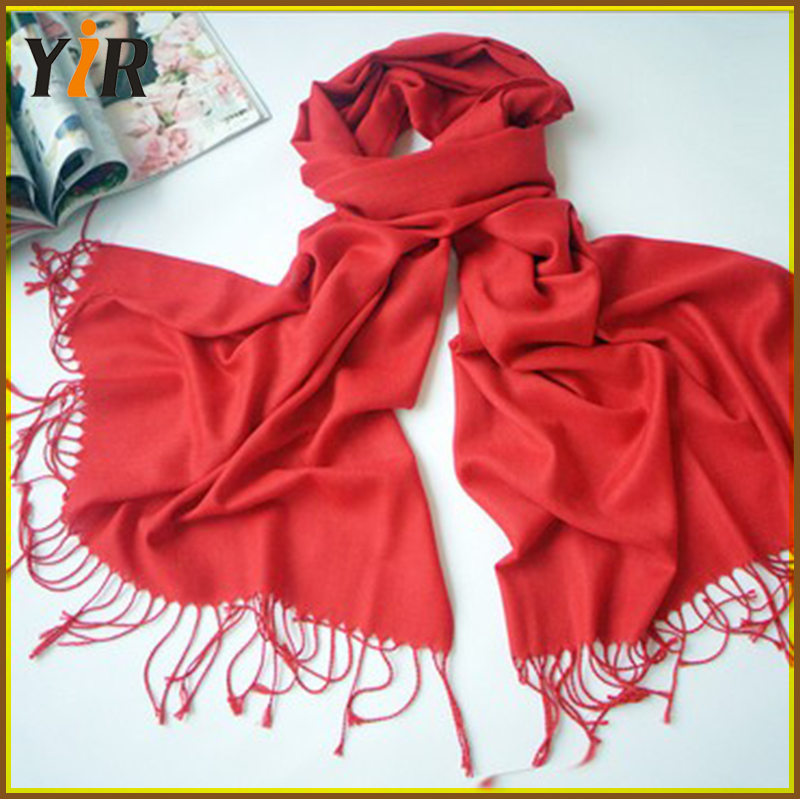 Solid Color Scarf Jacquard Shawls Scarf