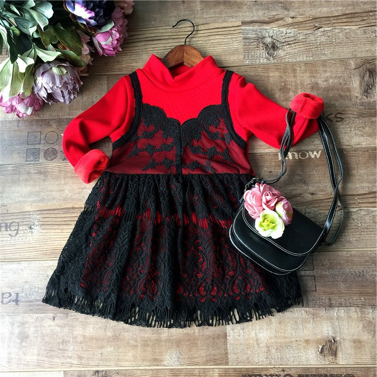 C70535A Long sleeve printed dress latest children frocks designs for little girls
