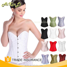 Women's Fashion Lady Sexy White Lingerie Corset For Tops Bridal Bustier Underwear