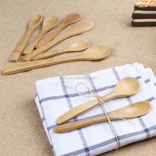 Natural Nanmu Wood Tea Coffee Stirring Spoon Household Tableware spoon can customize logo by handles
