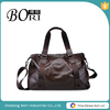 fashionable mens leather travel duffle bag