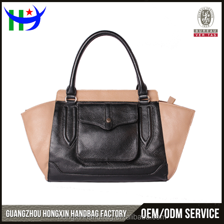 New designer genuine leather handbag trend leather handbag hot selling 100% cowhide lady handbag China supplier hand bag