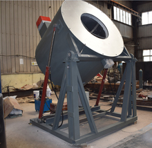 800KG Gas / oil fired tilting type aluminum alloy melting furnace