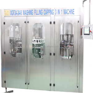 New designed pet bottle carbonated soft drink aluminum can filling line