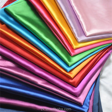 Yiwu Wholesale 100%Polyester Duchess Satin Silk Fabric For Wedding Robe Sleeping Dress