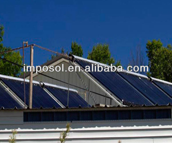 Industrial Solar hot water system for Hotel, School and Swimming pool