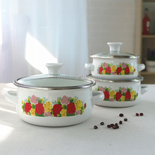 SET DE OLLAS / enamel mini pot for south america