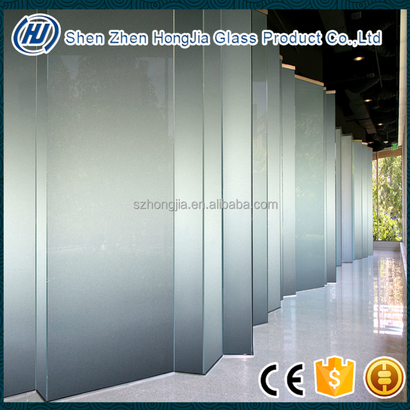 6mm+6mm thick laminated frosted glass partition