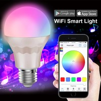 2013 new product/smart RGB W led bulb 5w e14 e26 e27 b22 wifi control led light/specialized manufacturer on arabian lamps
