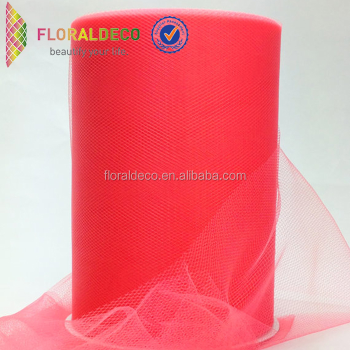 Soft wedding decoration customized tulle ribbon for packing