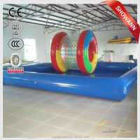 kids water park amusement pool with slide inflatable swimming pool noodles