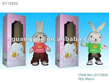 GY12852 Rabbit dancing and shook musical rag doll