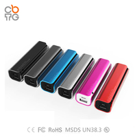 black 2600mah/2500mah/2200mah power bank/power pack/external battery