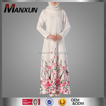 High Quality Modest Long Sleeves Floral Long Dress Latest Burqa Design Beauty Cheap China Wholesale Clothing