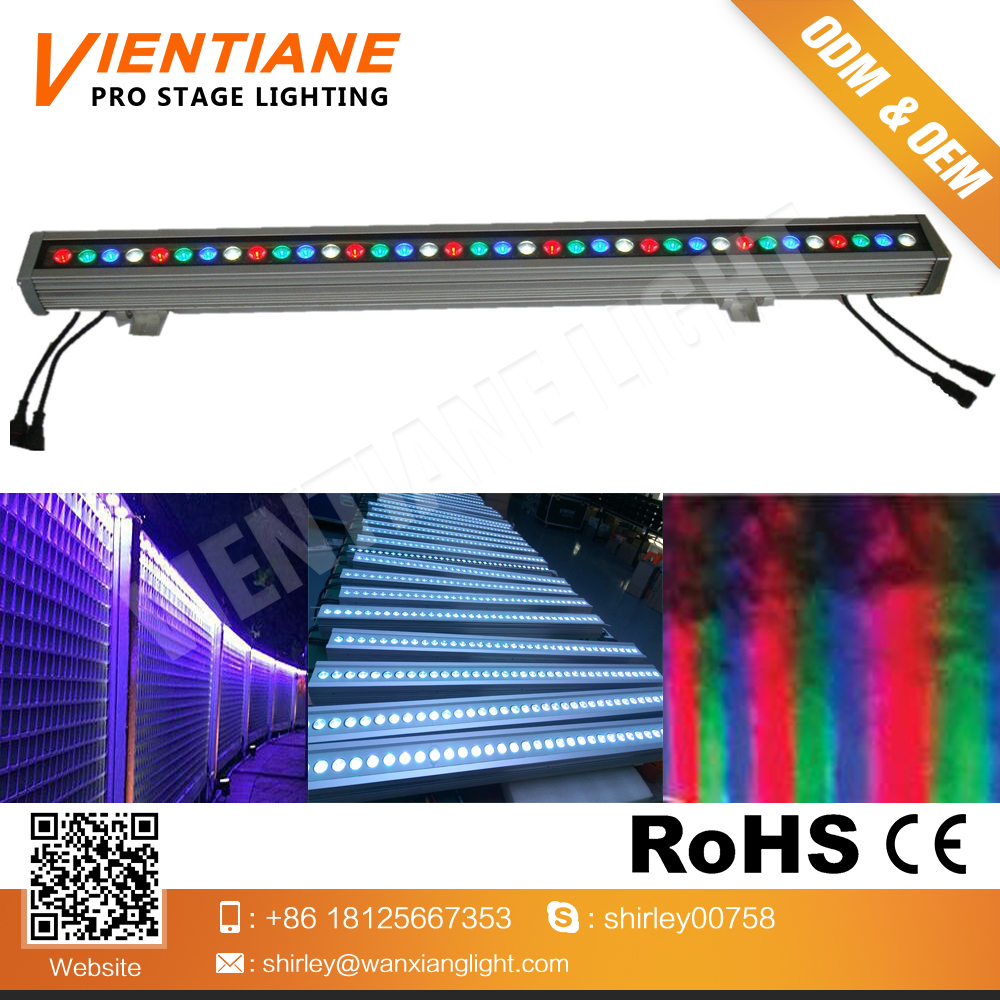 Hot selling WX-X001 LED RGBW 3 in 1 36PCS*3W Wall wash strip Light for bridge decoration