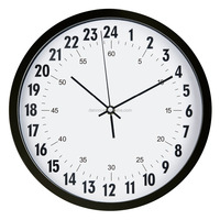 wall clock 2016 new plastic wall clocks china 24 hour analog clock