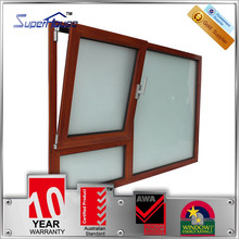 tilt and turn window/double glass frosted glass window bathroom windows