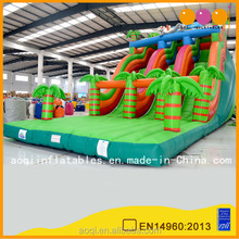 Inflated products good selling rabbit inflatable slide 9 metre high double lane slide game for kids