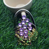 Hot personalize folding purse hook with rhinestones