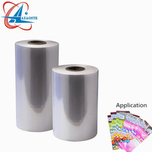 Customized pvc clear heat sensitive plastic film rolls for printing labels