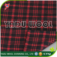 Woven polyester fabric / red black plaid fabric / fashion fabric wholesale