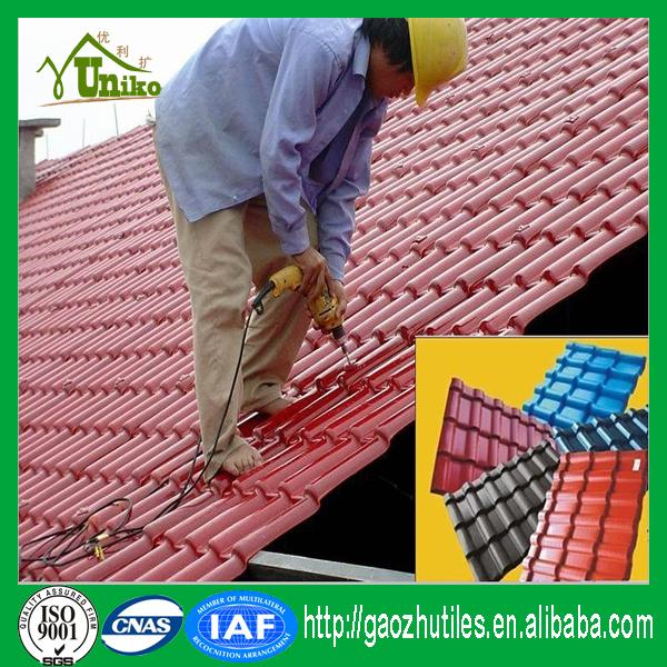 antioxidant red uv-protected temple rainbow roofing tiles with great price