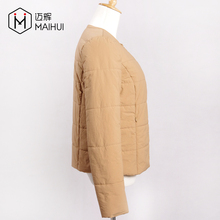 Winter Clothes Spring Autumn Full-zip Cotton Quilted Coat Bomber Jackets