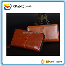 Leather Men Wallets Business Card holder Coin Purse Men Long Zipper Wallet Leather Clutch Carteira Masculina