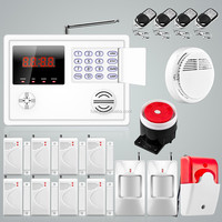 Ios/android app set Wireless GSM PSTN System Home/House/Office Burglar Alarm System Kit