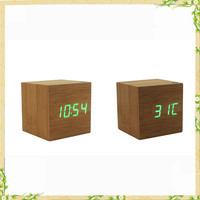 Wholesale china factory digital cube clock with sound control function