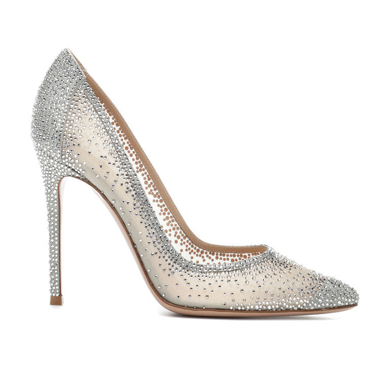New Style Gradual Change Sequin Thin <strong>Heels</strong> Pointed Sexy Women Dress Shoes